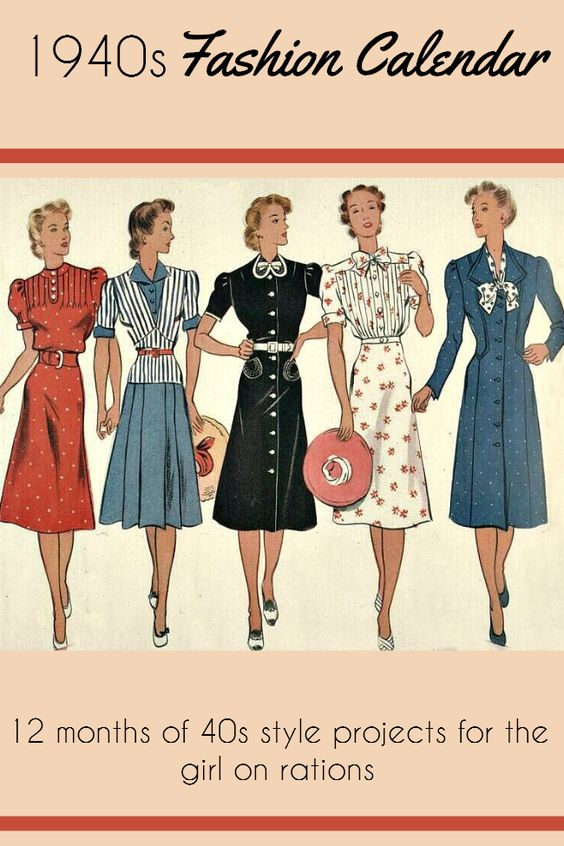 1940s Fashion And Style Trends In 40 Stunning Pictures: Women's Fashion, England And 40s Fashion On Pinterest