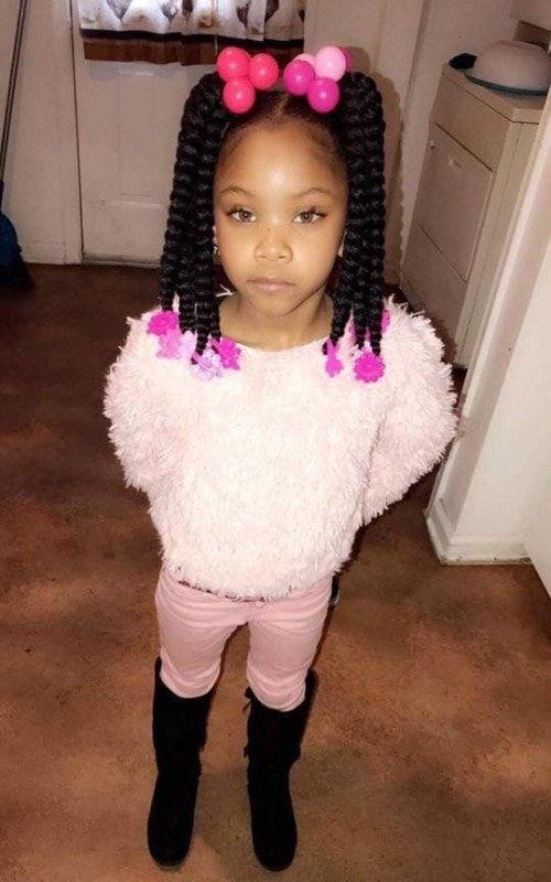 Schwarze Kinder Frisuren Mit Geflochtenen Perlen Black Kids