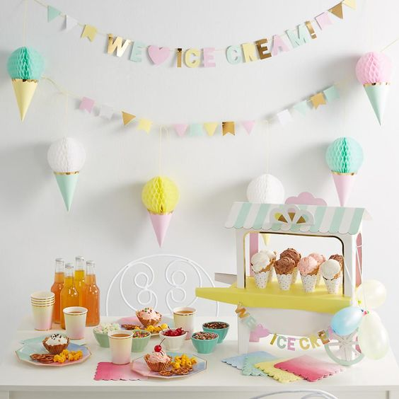 Ice cream party supplies from The Land of Nod