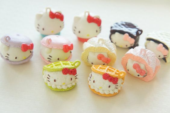 10 pcs Hello Kitty Creamy Sweets Mascot Charms by misssapporo