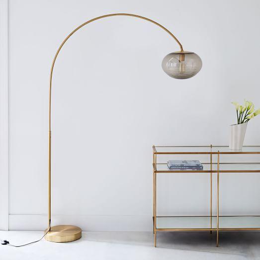 Overarching Acrylic Shade Floor Lamp Acrylic Floor Lamp Modern