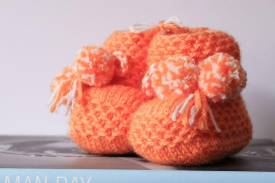Baby Wool Boots - Baby Orange.  https://www.facebook.com/flocosdela