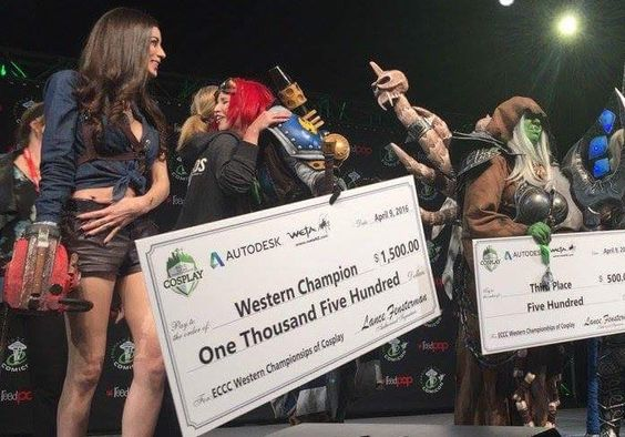 RT @allierosemarie: AHHHH I won Western Championships at #ECCC last night! TY so much everyone!!!  #cosplay #Warmachine https://t.co/zTfn13FKMo