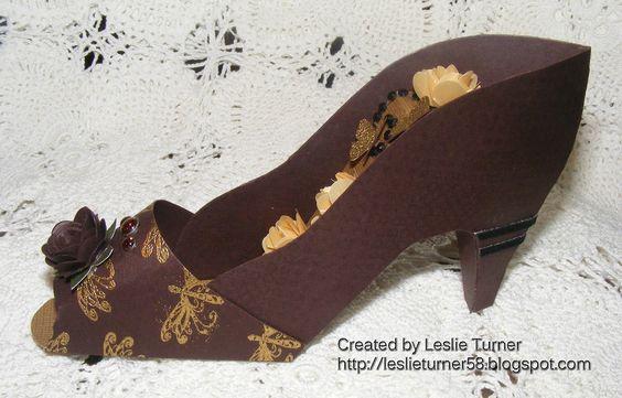 high heel paper shoe template | Love To Scrap!: High Heel Shoe!