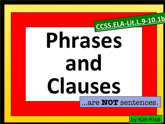 worksheet : phrase clause phrases and clauses lesson plans worksheets ...