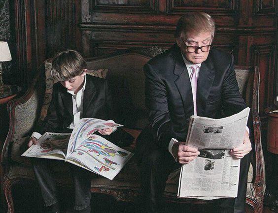 朝の一場面 トランプ大統領