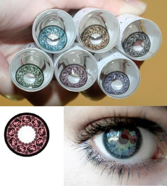 Hello Kitty Contact Lenses i'd get at least 2 in every color !