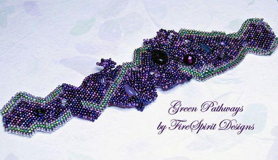 Green Lightning OOAK handmade bracelet by FireSpiritDesigns