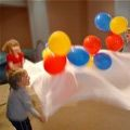 No fancy fabric necessary for a kid-pleasing parachute