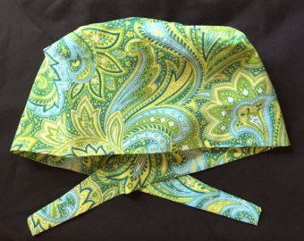 Birdies Traditional tie back pixie scrub hat. by AliKaps on Etsy
