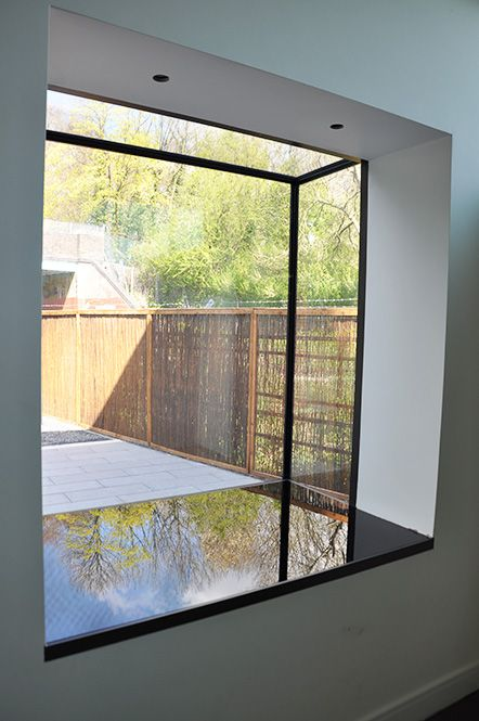 Window boxes, known as Oriel Windows or Windows Seats are created like  frameless pop out glass boxes to be used as either a large and multi-dimens