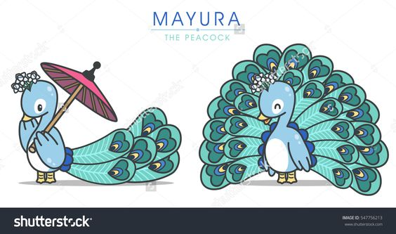 20+ Peacock Cartoon Character