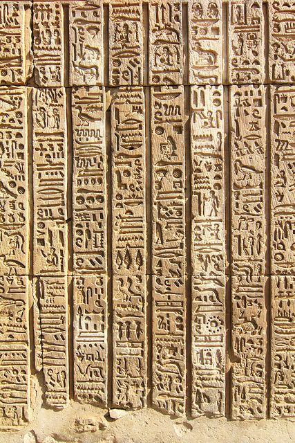 Hieroglyphs at Kom Ombo by mad.raf.din, via Flickr
