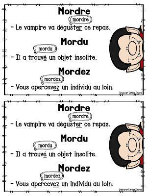 La Classe De Mme Emond Petitcrayola Mordre Mordu Mordez Ecole Francaise Theme Classe Education