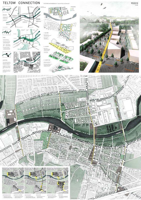 Schinkelpreis Landschaftsarchitektur + Reisestipendium: Teltow Connection Blatt 1 Gesamtkonzept, © Tatjana Busch und Elisabeth Stieger