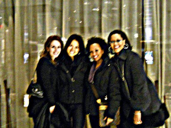 At Landmarc Restaurant Time Warner Bldg NYC with the girls