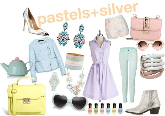 Pastels + Silver