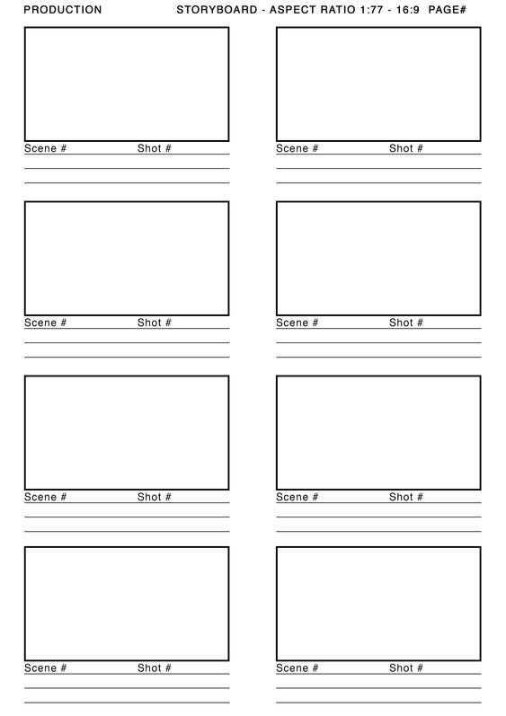 vertical storyboard sample storyboard template google search