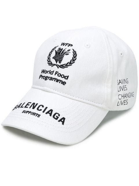 Balenciaga World Food Programme Cap Farfetch World Food Programme Leather Baseball Cap Spanish Fashion