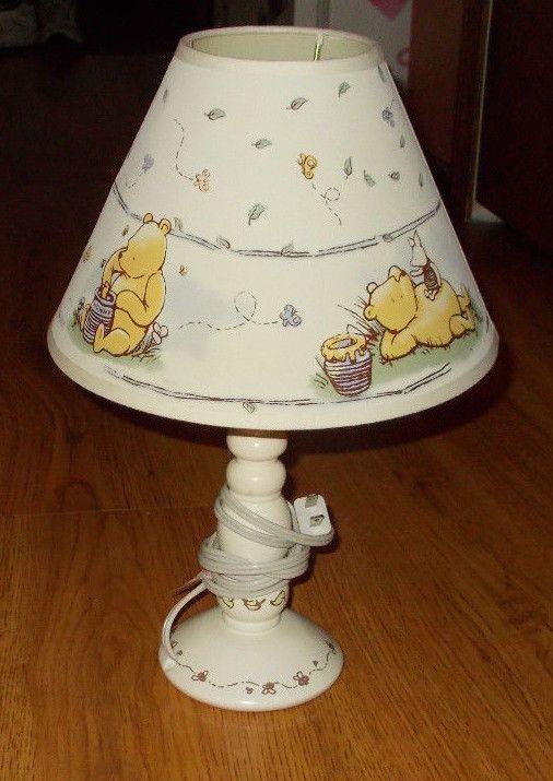 Pooh Baby Nursery Lamp Base And Shade