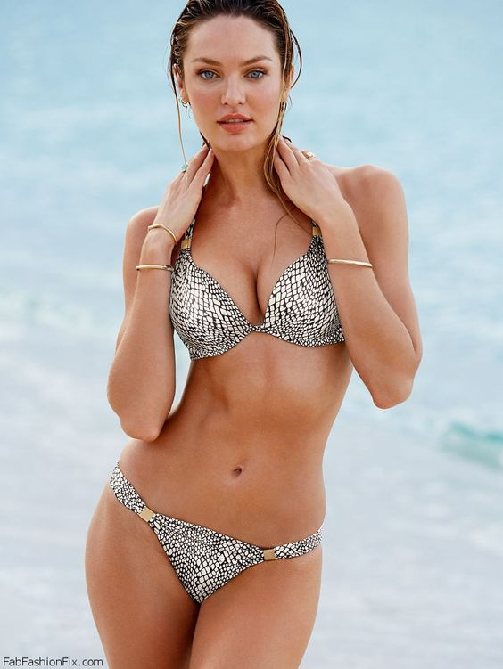 Candice Swanepoel is sexy bombshell for Victoria's Secret Swimwear 2014.