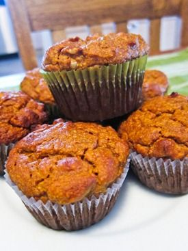 almond pumpkin muffins. -carrotsncake