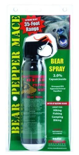 Bear Mace Pepper Spray Humane Defense 35ft Reach #camping #bearattack Free Shipping