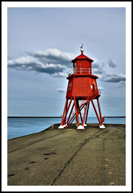 Herd Groyne Lighthouse, River Tyne, South Shields. A prop from Red Dwarf maybe?!