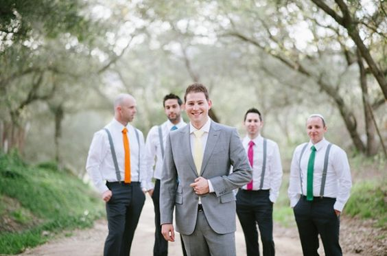 Love the bright and colourful ties boys!