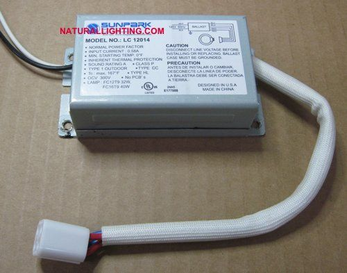 Sunpark Lc 12014t 1 Fc12t9 32 Watt Circline 1 2d 38 Watt 1 Fc16t9 40 Watt Circline 1 Fc9t9 30 Watt Circline Lamp Compact Elect Ballast Fluorescent Watt