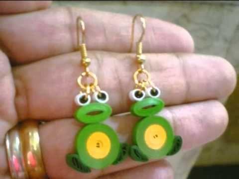 paper earrings handmade paper jewellery tutorial - photo #30