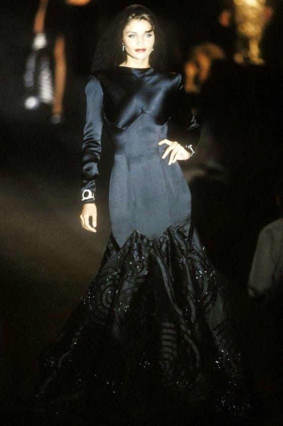 Helena Christensen for Valentino Haute Couture Fall/Winter 1992