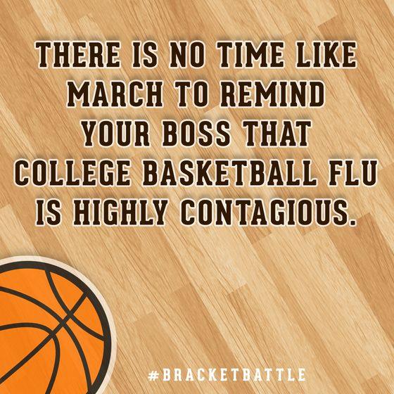 Basketball Championship Quotes: College Basketball Flu Card #bracketbattle
