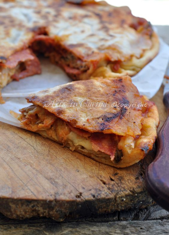 eggplant tart, no oven, no yeast (torta di melanzane senza forno e senza lievito)