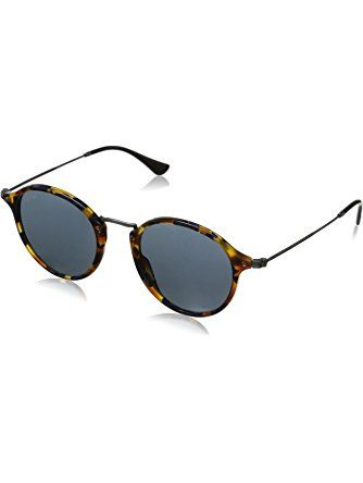 Ray-Ban ACETATE MAN SUNGLASS - SPOTTED BLUE HAVANA Frame GREY Lenses Non-Polarized ? Ray-Ban Sunglasses