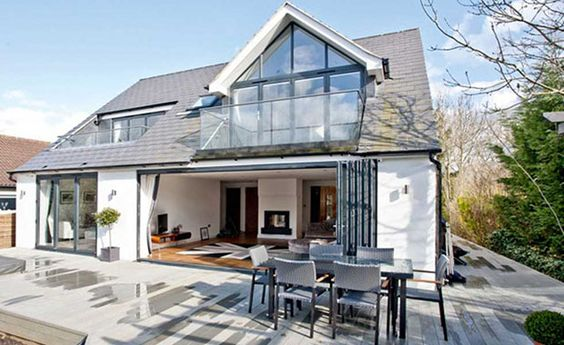 dormer bungalow with loft conversion and balconies