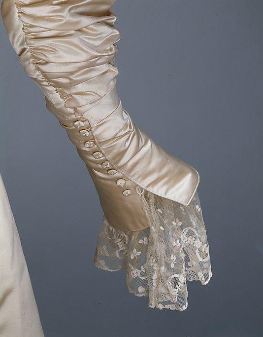 Sleeve detail, Wedding dress - Worth Paris 1896
