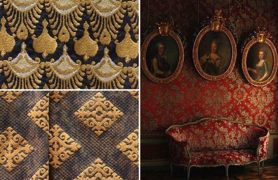 tapeçaria em cores quentes
