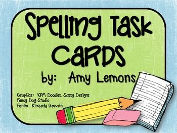 Print the cards out, laminate, and put them into a spelling center! This is a fast, easy way to manage your spelling centers :