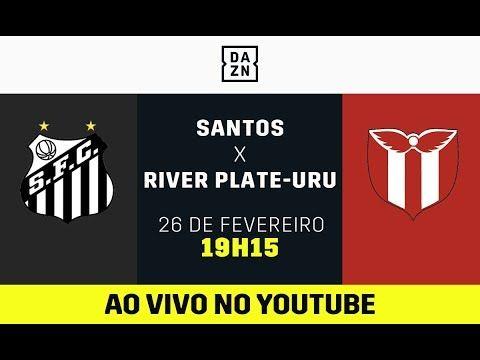 Santos X River Plate Uru Ao Vivo E De Graca Assista Aqui Com O Dazn Santos Plates Youtube