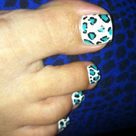 Nail art, Blue and white and Blue and on Pinterest