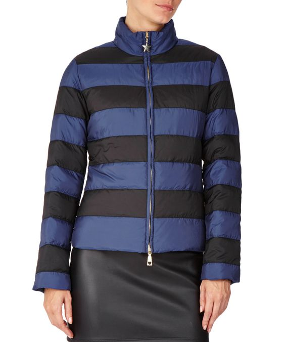 Navy+&+black+padded+duck+down+jacket+by+Love+Moschino+on+secretsales.com