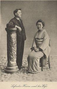 Patrick Lafcadio Hearn y su esposa