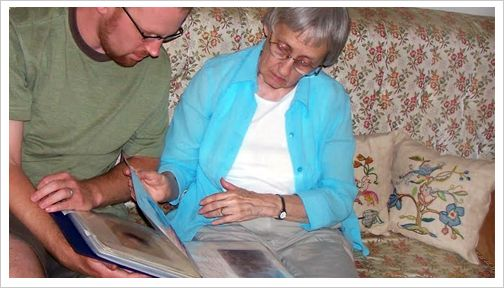"""Casual Fridays: Shining light on Alzheimer's and Dementia – """"Memory Books""""---Creating memory books or photo albums can be a fun and collaborative process, but it can also be very useful in times of stress. This story shows how making photo albums and scrap books can help loved ones with Alzheimer's."""