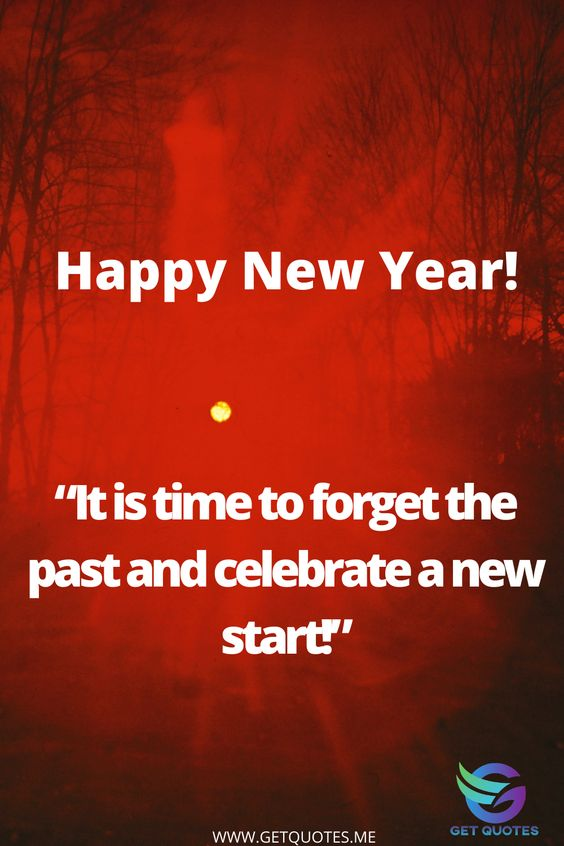 Its time to forget the past and celebrate a new year