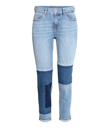 Boyfriend Patchwork Jeans   Hellblau   Ladies   H&M DE