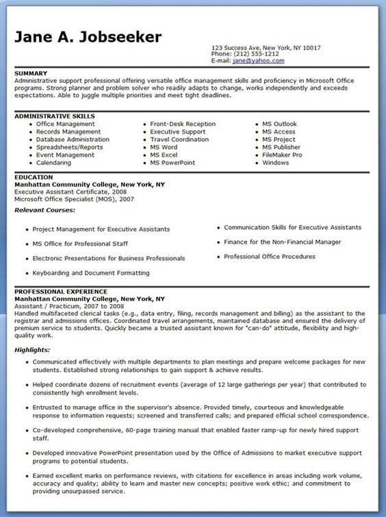 8 things you should always include on your résumé Resume - free administrative assistant resume template