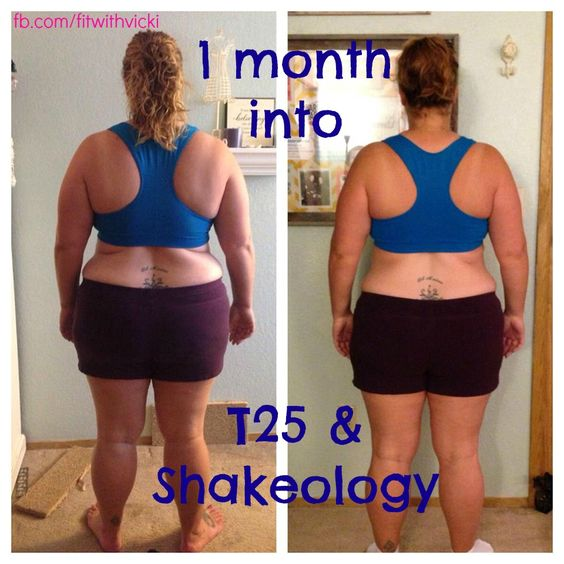 Insanity Workout T25: Amazing 1 Month Results With T25 And Shakeology!