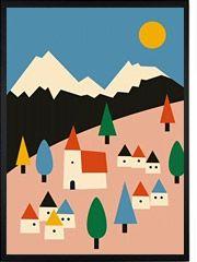 Landscape Poster - Psikhouvanjou Human Empire shop