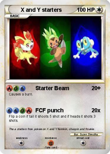 Pokémon X and Y starters 4 4 - Starter Beam - My Pokemon Card ...